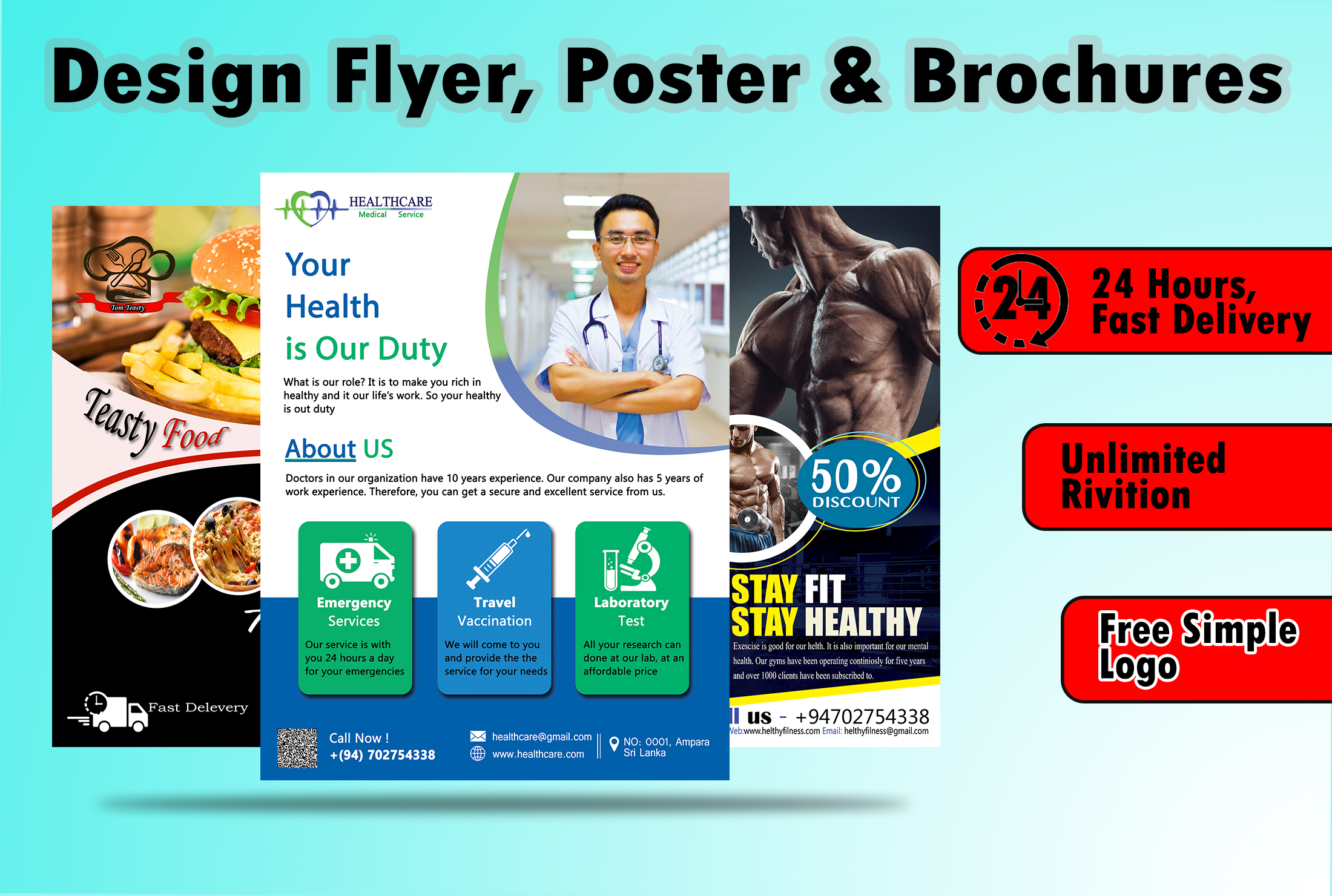 I will design a creative flyer,  brochure,  leaflet or posters