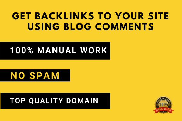 I will create 20 high quality backlinks using blog comments