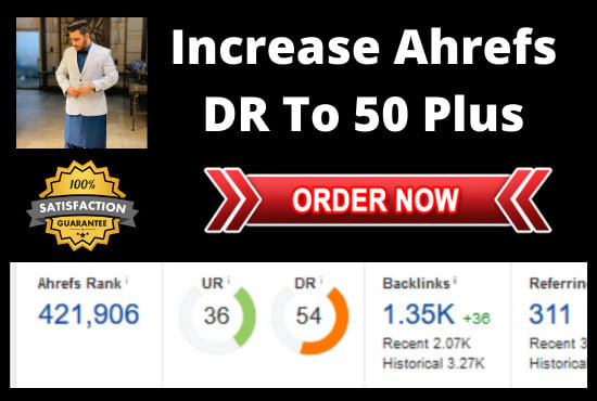 increase domain rating ahrefs dr 50 in 14 days and improve web ranking