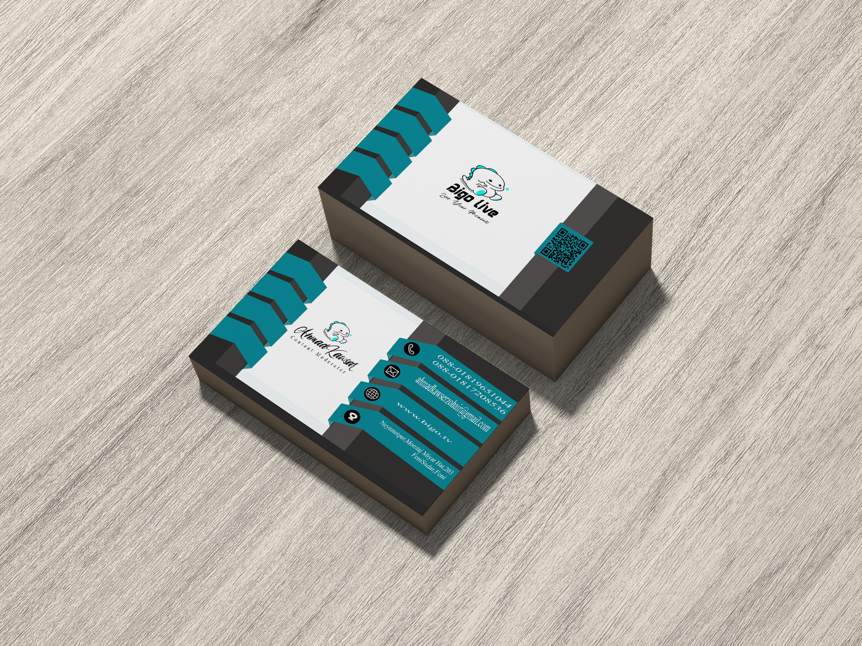 I will create professional 3d business card