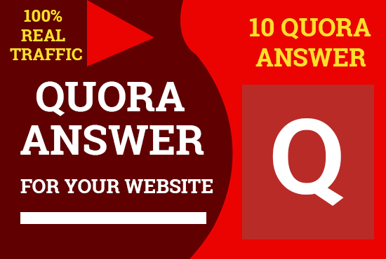 Promote your website 10 HQ Quora Answer for targeted traffic