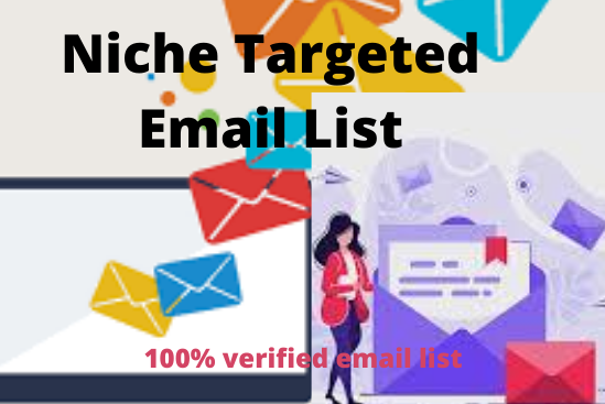 I will provide niche 1k targeted email list and email marketing