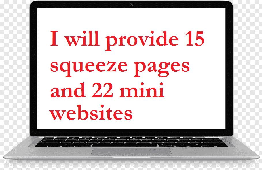 I will provide 15 squeeze pages and 22 mini websites