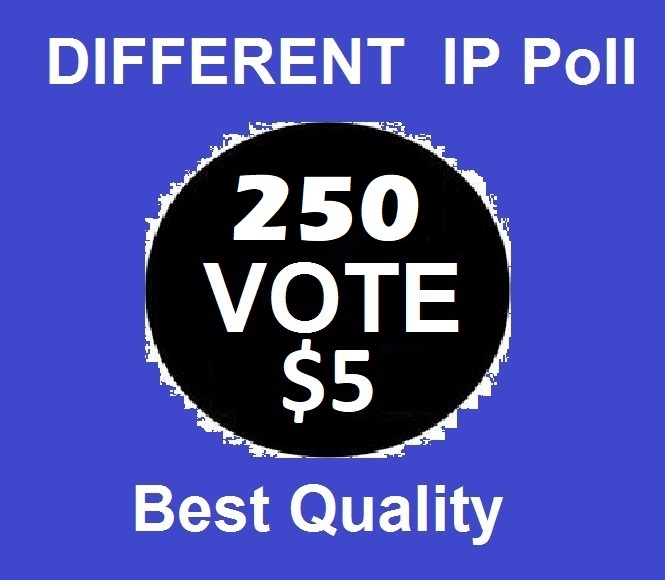 Amazing 250 Different ip votes on your online poll