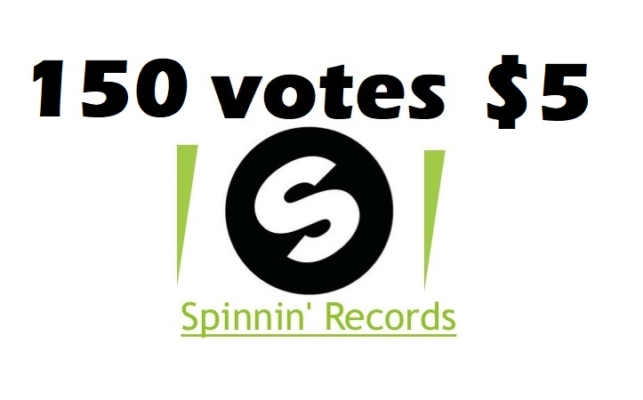 Promote 150 spinnin records talent pool votes on your music