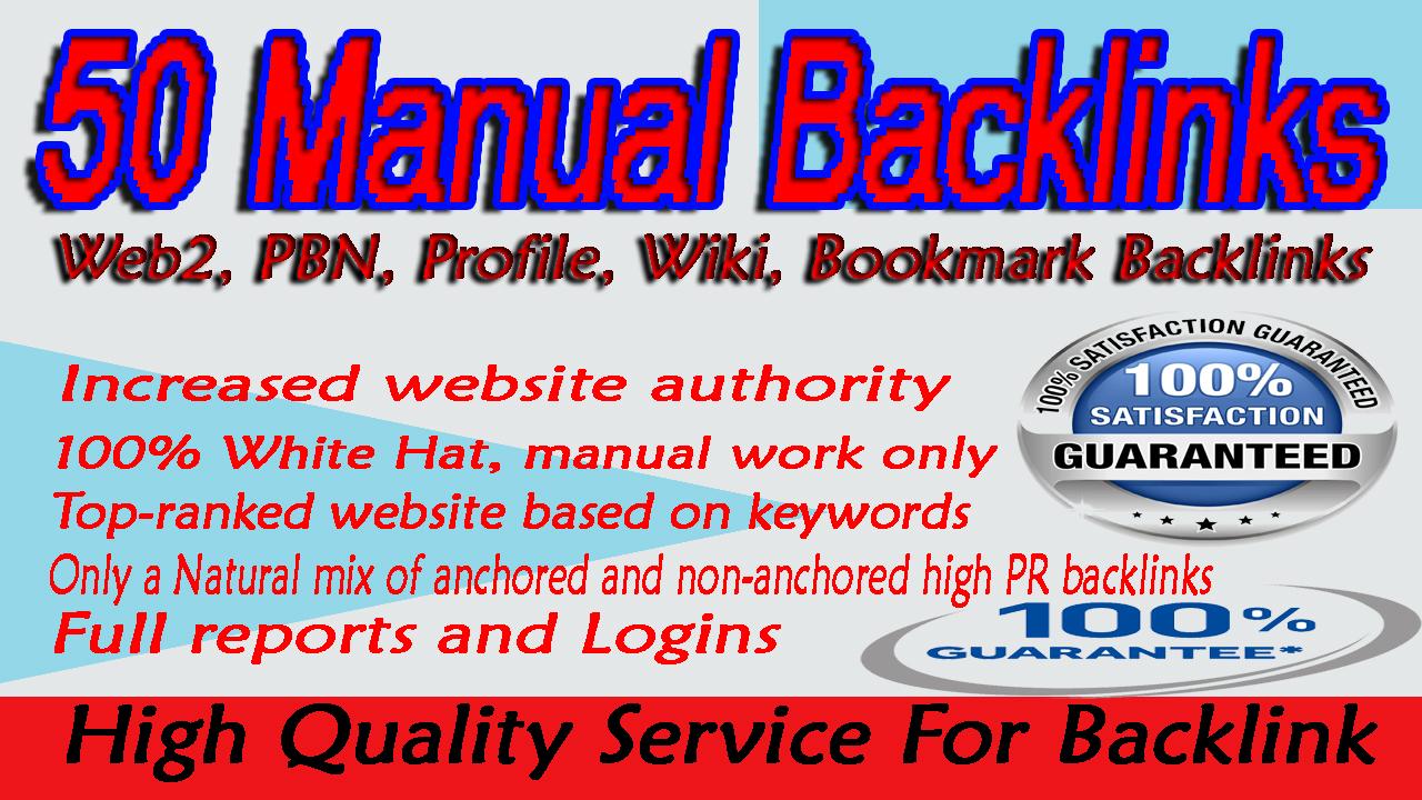 create 50 High Quality Profile backlinks with high DA and PA