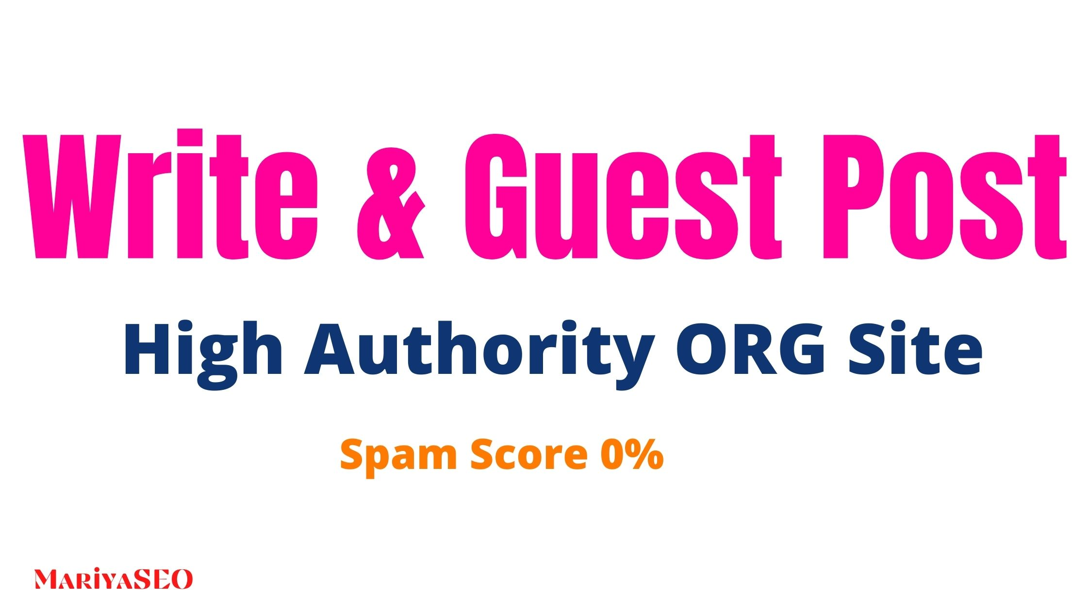 Write and Guest Post on my own High Authority Site ORG Domain