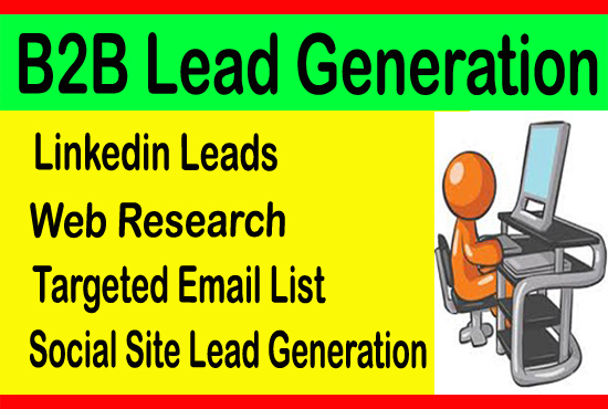 I will do b2b lead generation, Email List and web research