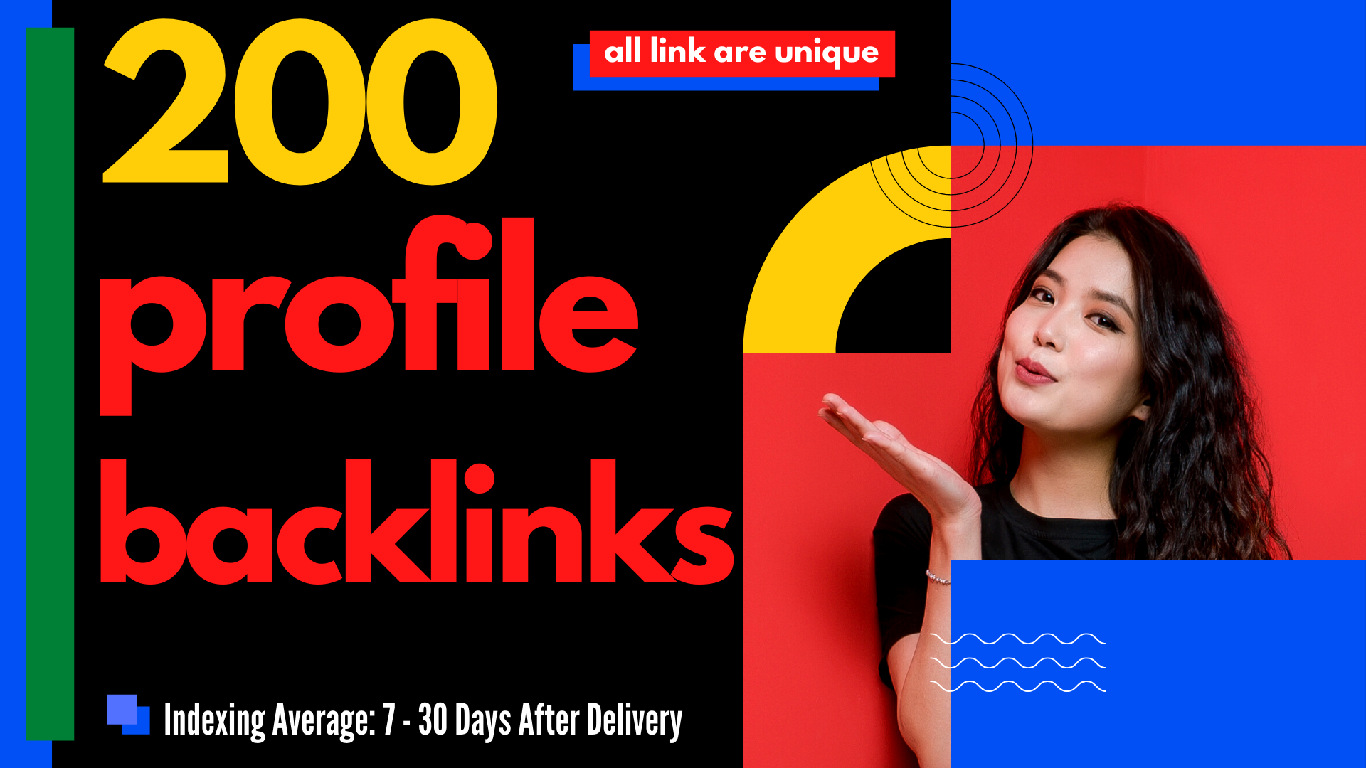 I will create 200 high authority profile backlinks SEO