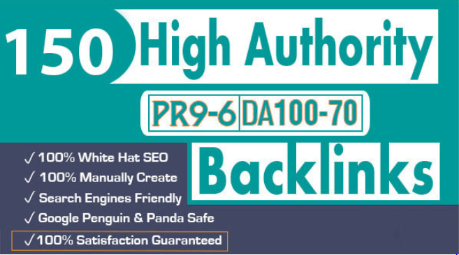 I will create 150 high authority profile backlinks manual SEO service