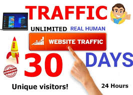 UNLIMITED target of ACTIVE REAL Human VISITORS/Web TRAFFIC to your website from around the world