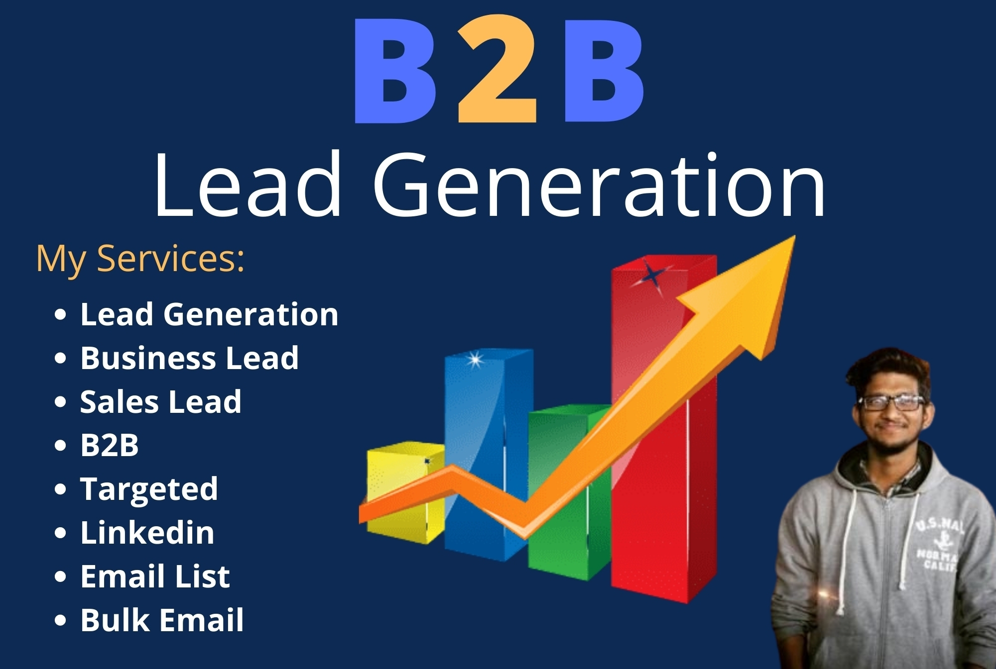 I will give you 1k B2b leads based on your requirements