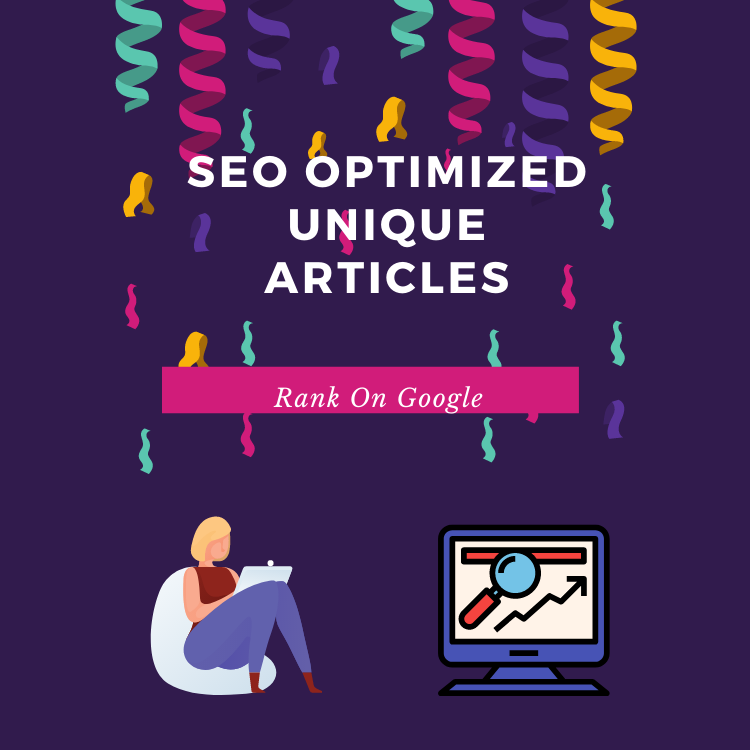 I will provide 2 seo friendly 500+ words unique articles