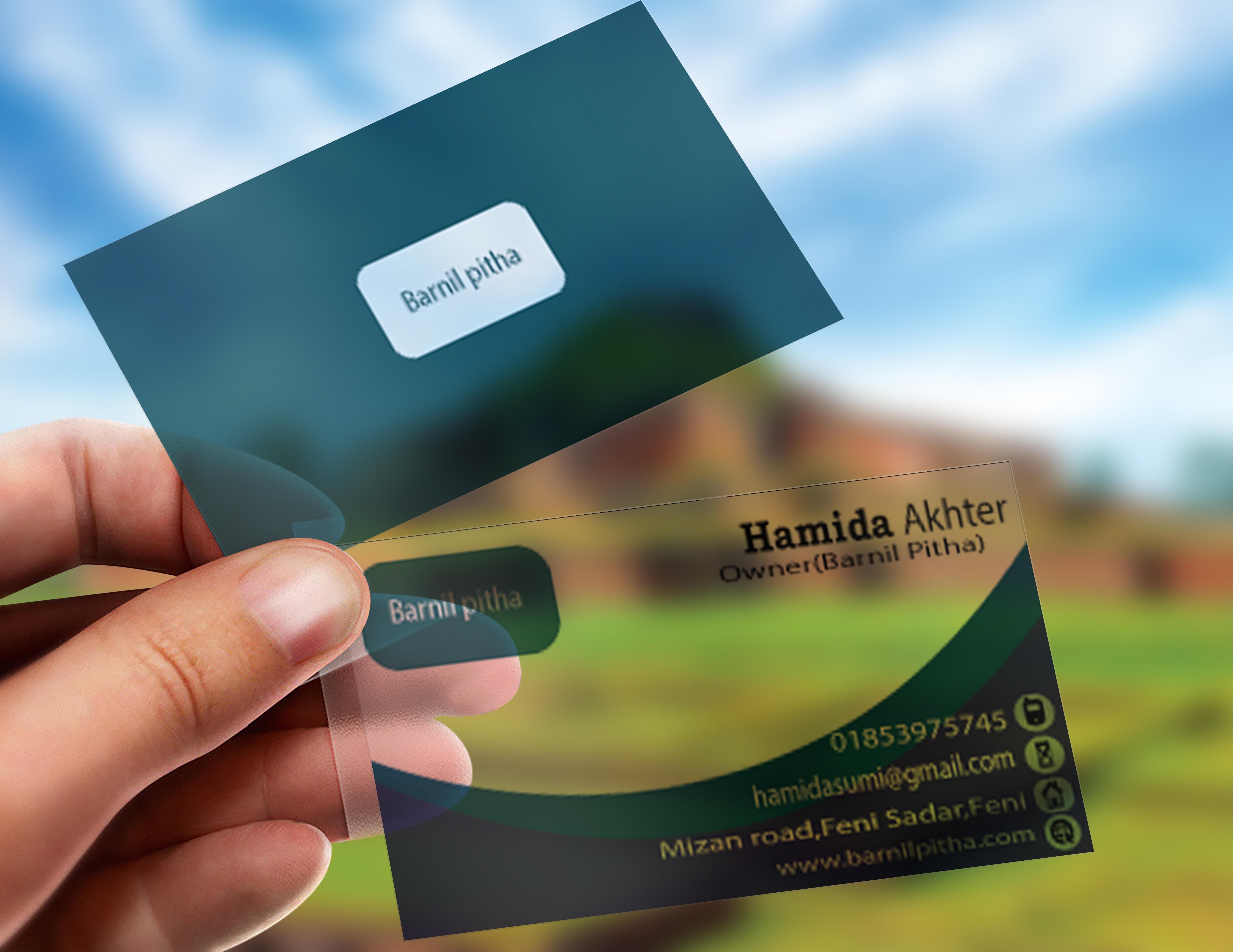 I will do a unique translucent business card