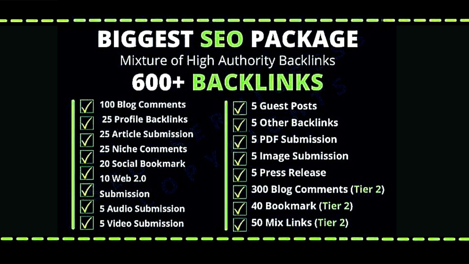 I will build high authority 600 plus dofollow backlinks on your website SEO service