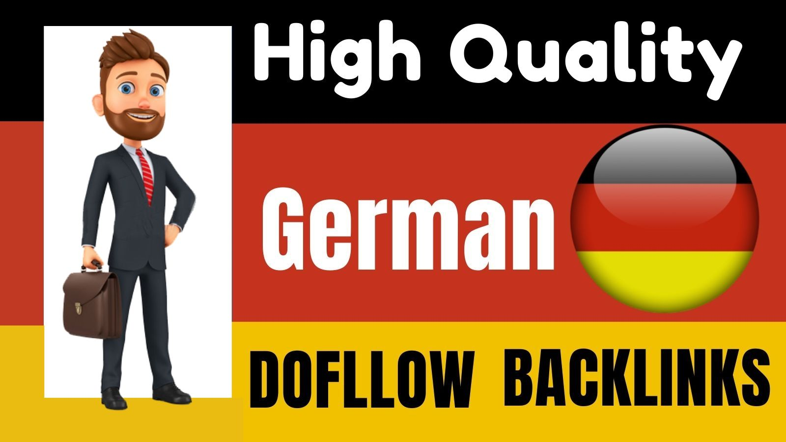 I will do high quality German SEO authority backlinks