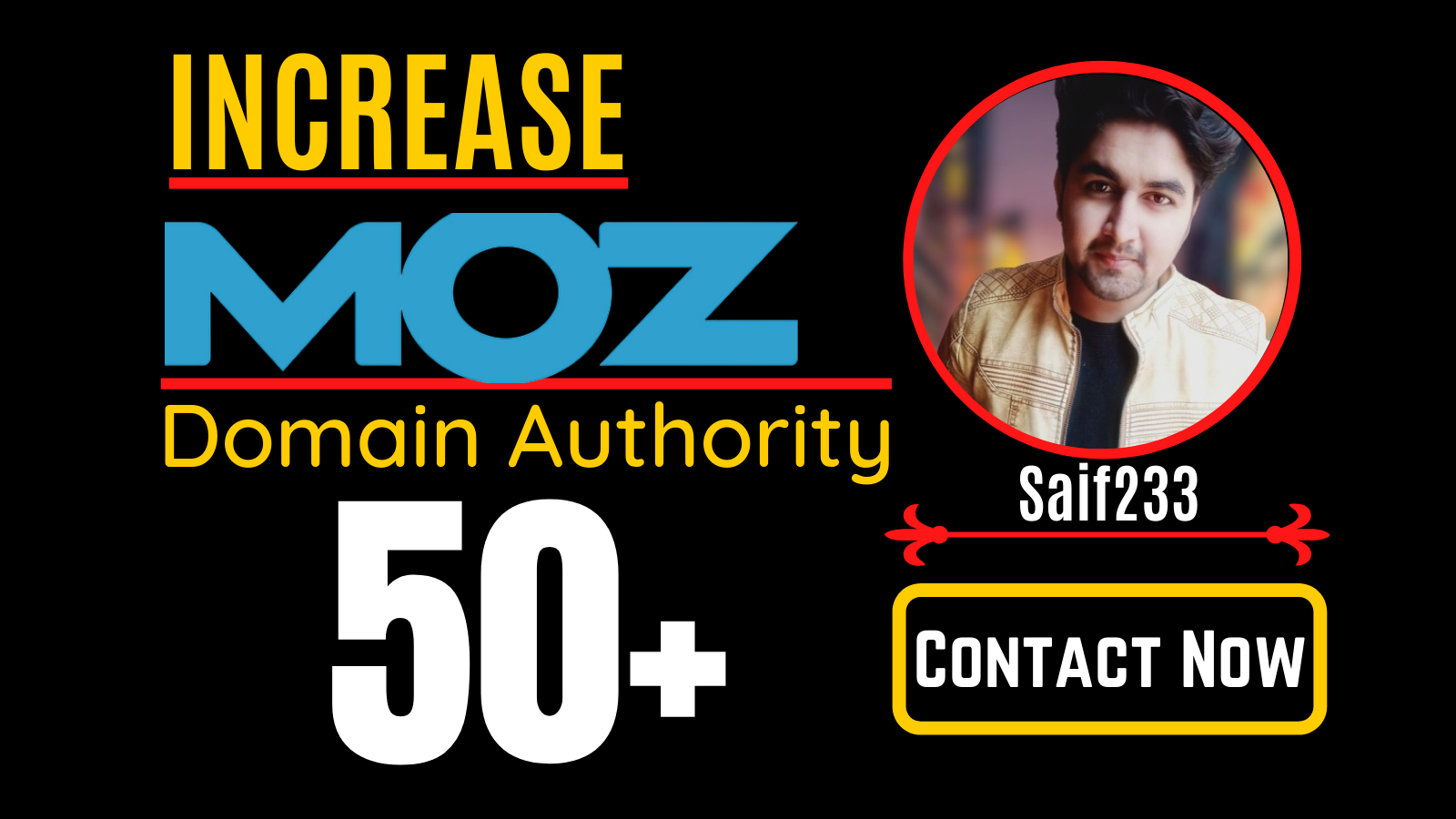 increase MOZ domain Authority,  MOZ DA 50 plus