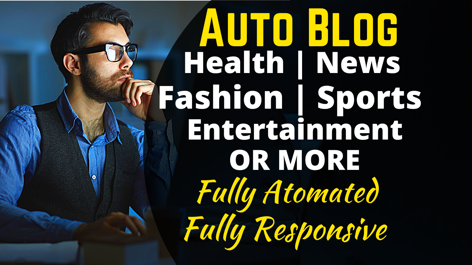 I will build autopilot automated website WordPress autoblog,  auto blogging