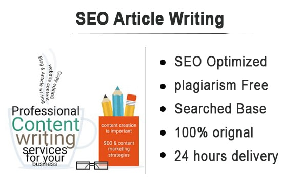 I will write Professional SEO Article on any topic