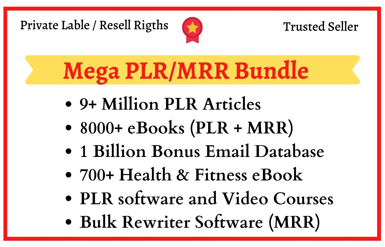 Get Over 9 Million Plr Articles 8000+ ebooks,  1 Billion Email Database and Mcuh more