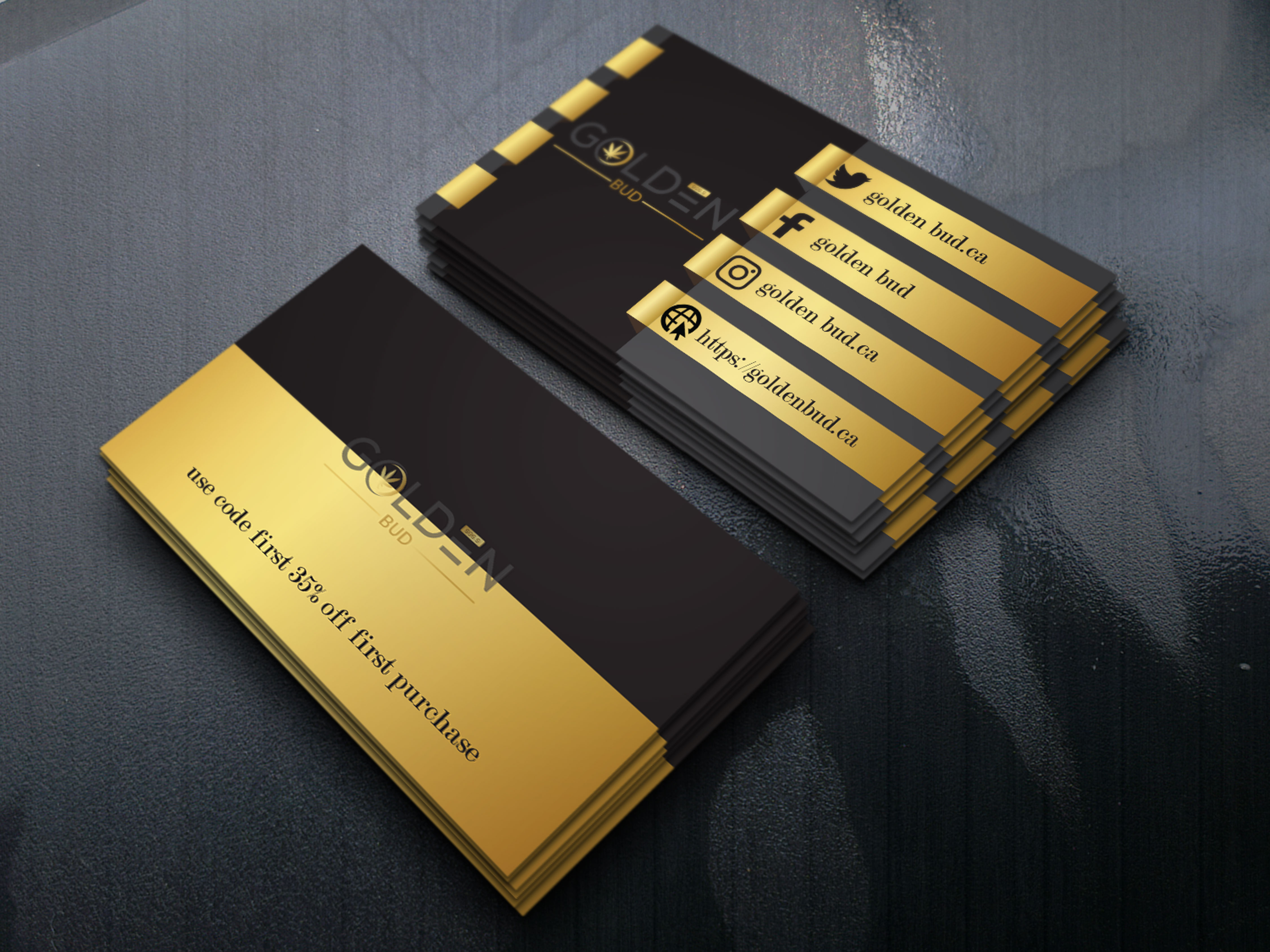 I will design luxury business card.