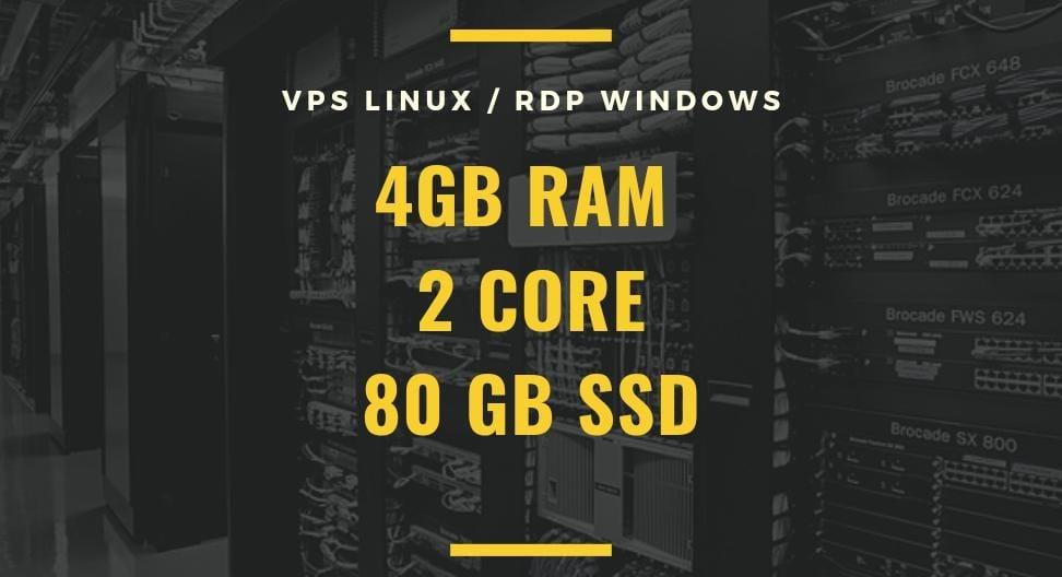 Best Cheap 4GB ram 2 cores VPS/RDP 80 GB SSD