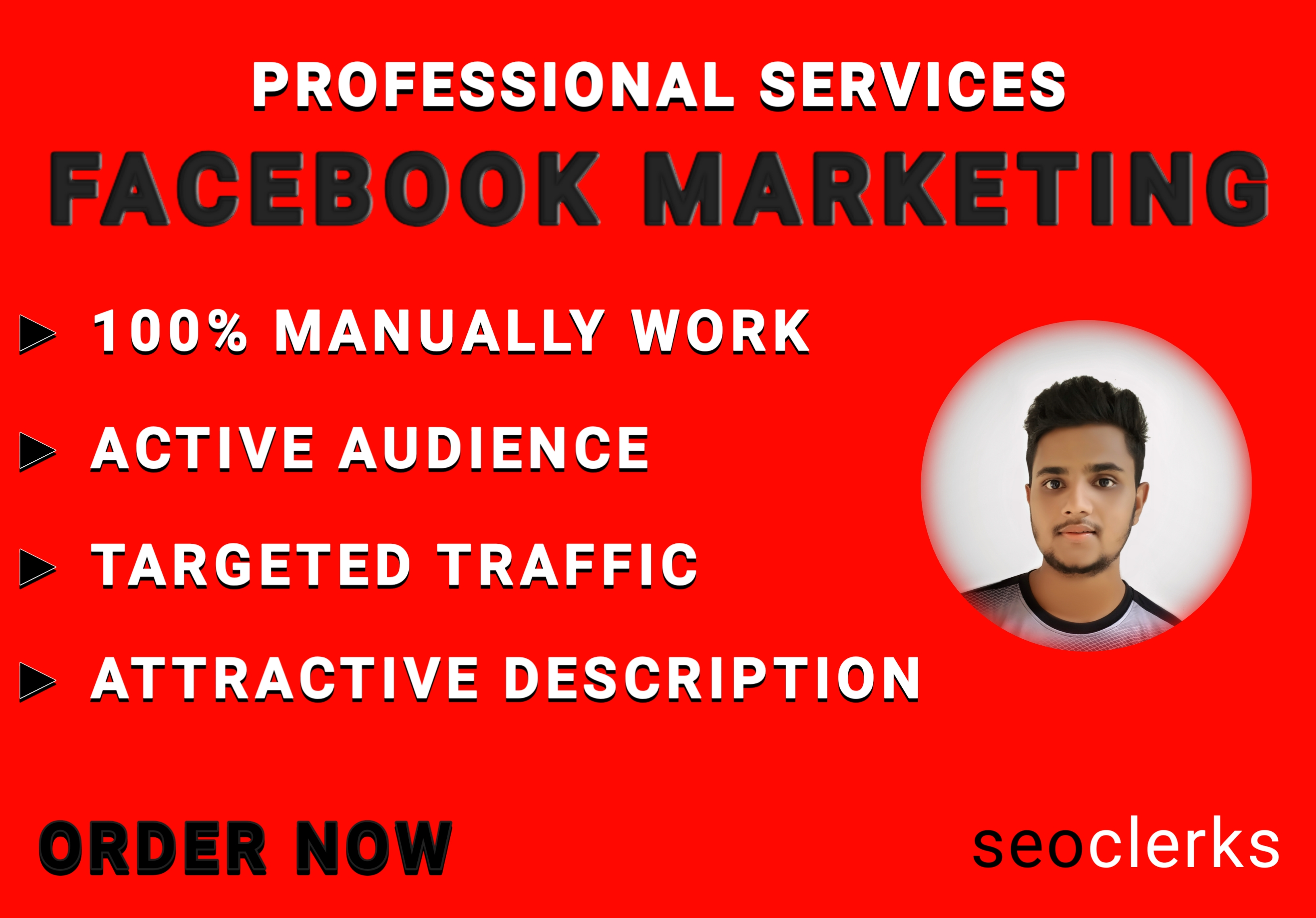 i will do professional facebook marketing and increase your business & targeted traffic
