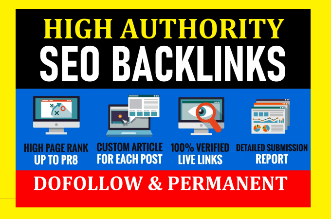 create authority 450 trusted SEO backlinks,  link building