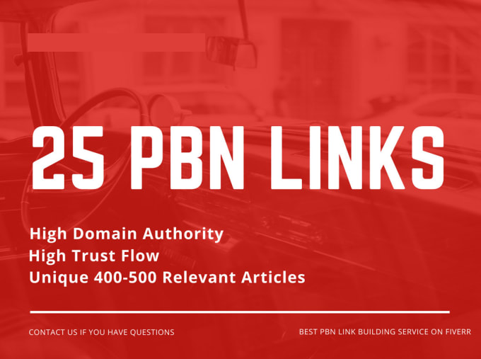 25 permanent pbn high metrics contextual backlinks