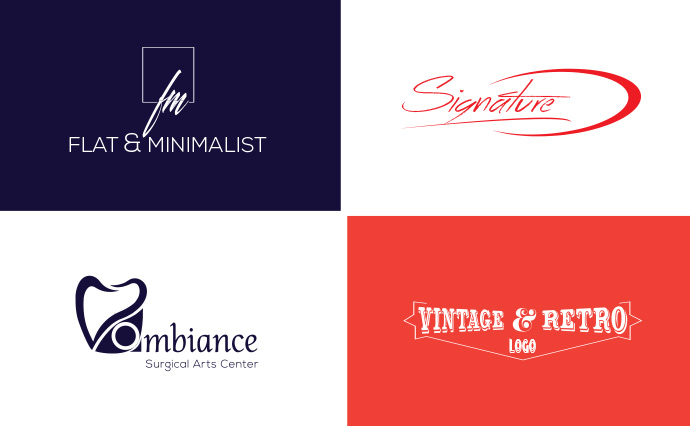 I will create minimalist modern creative business logo design