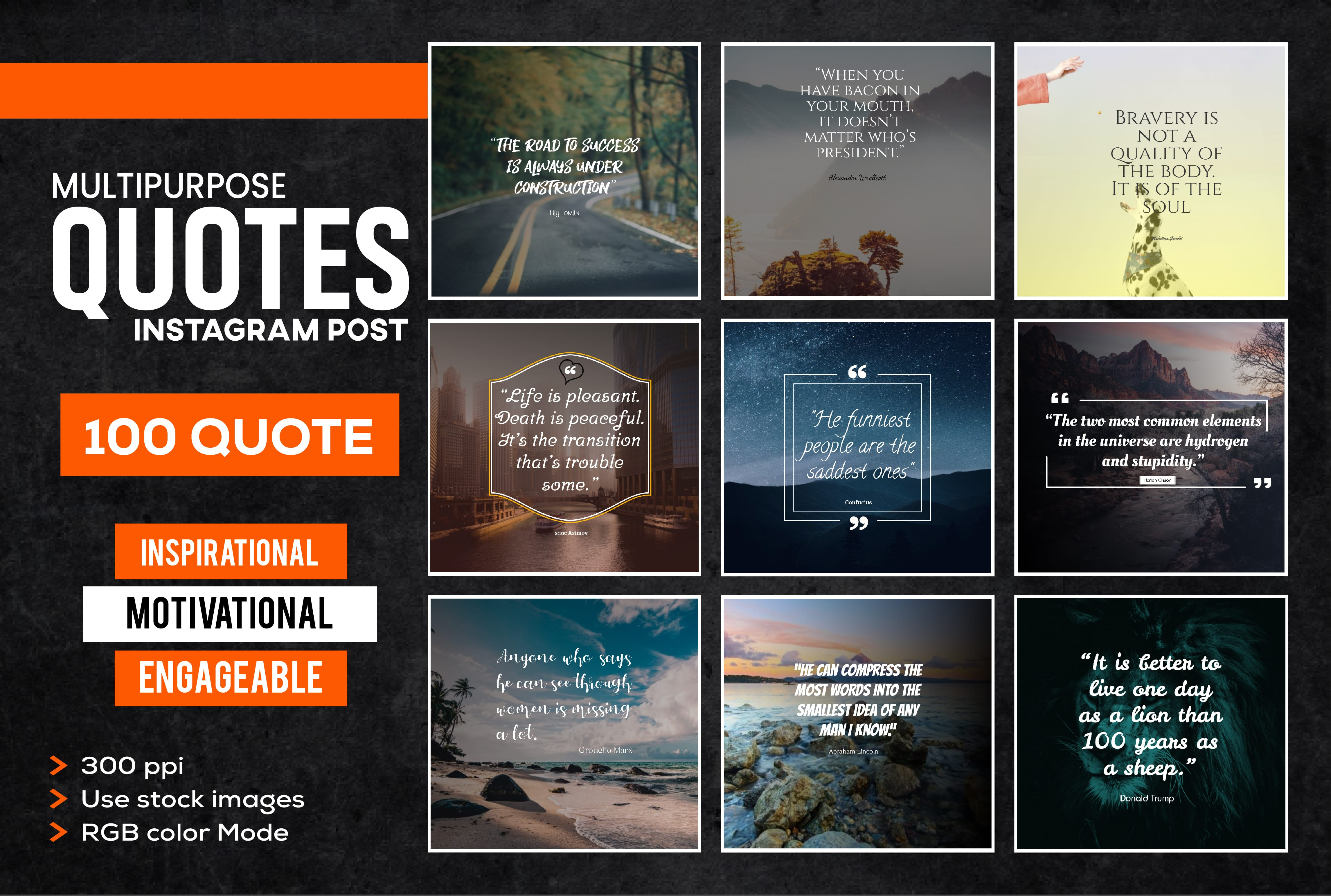 I will design 100 motivational quotes, inspirational quotes, image quotes