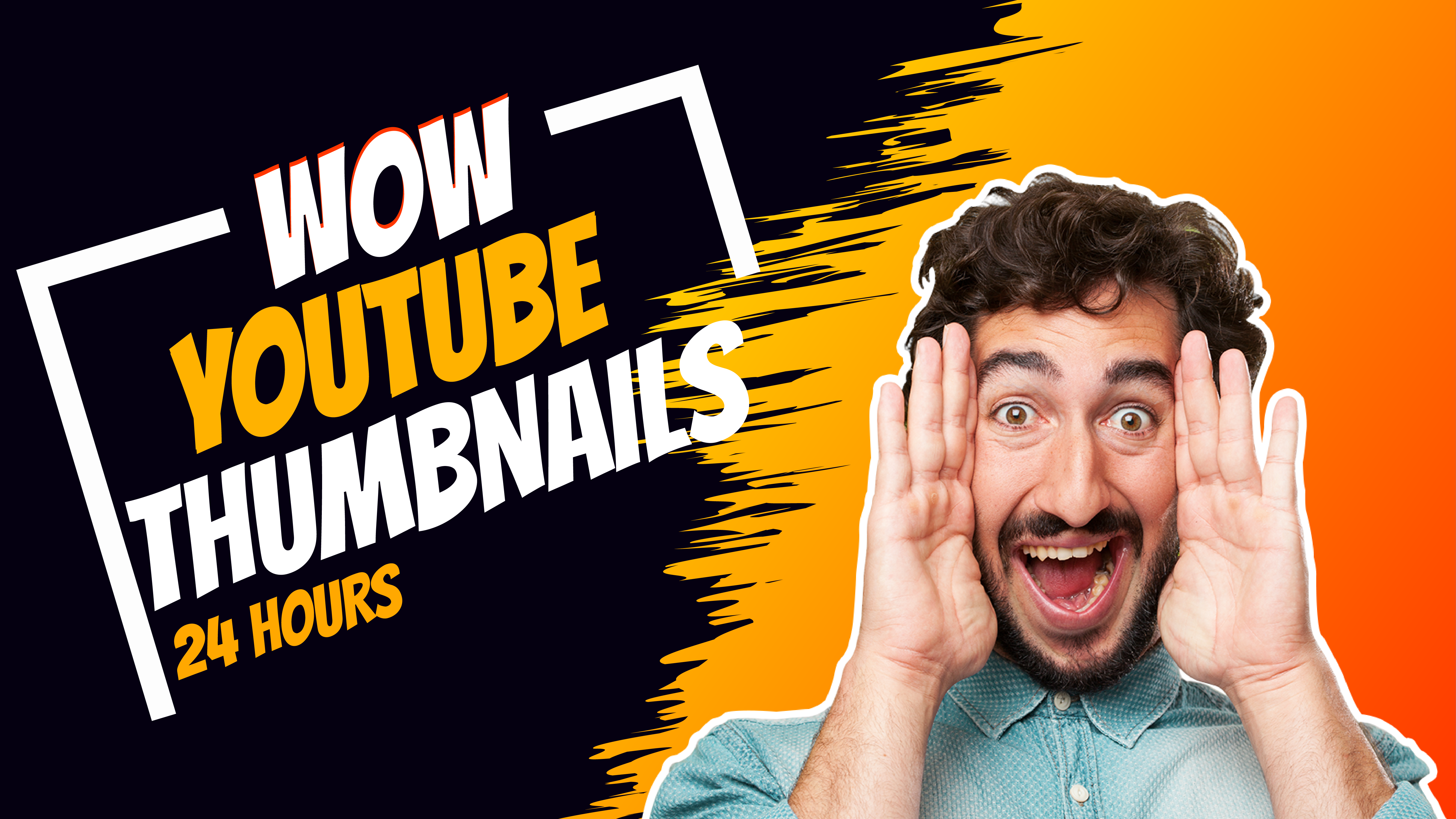 i will create youtube thumbnail design in 24hr