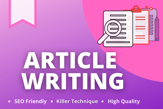 I will write a well-crafted and unique article or blog post