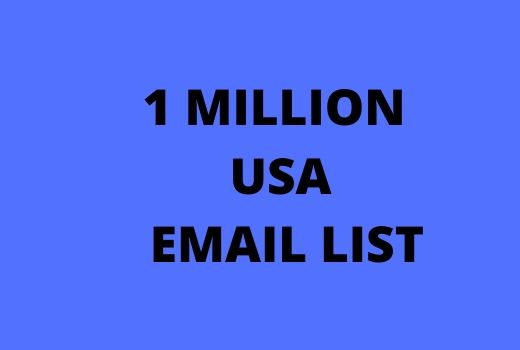 provide 1 million usa email list
