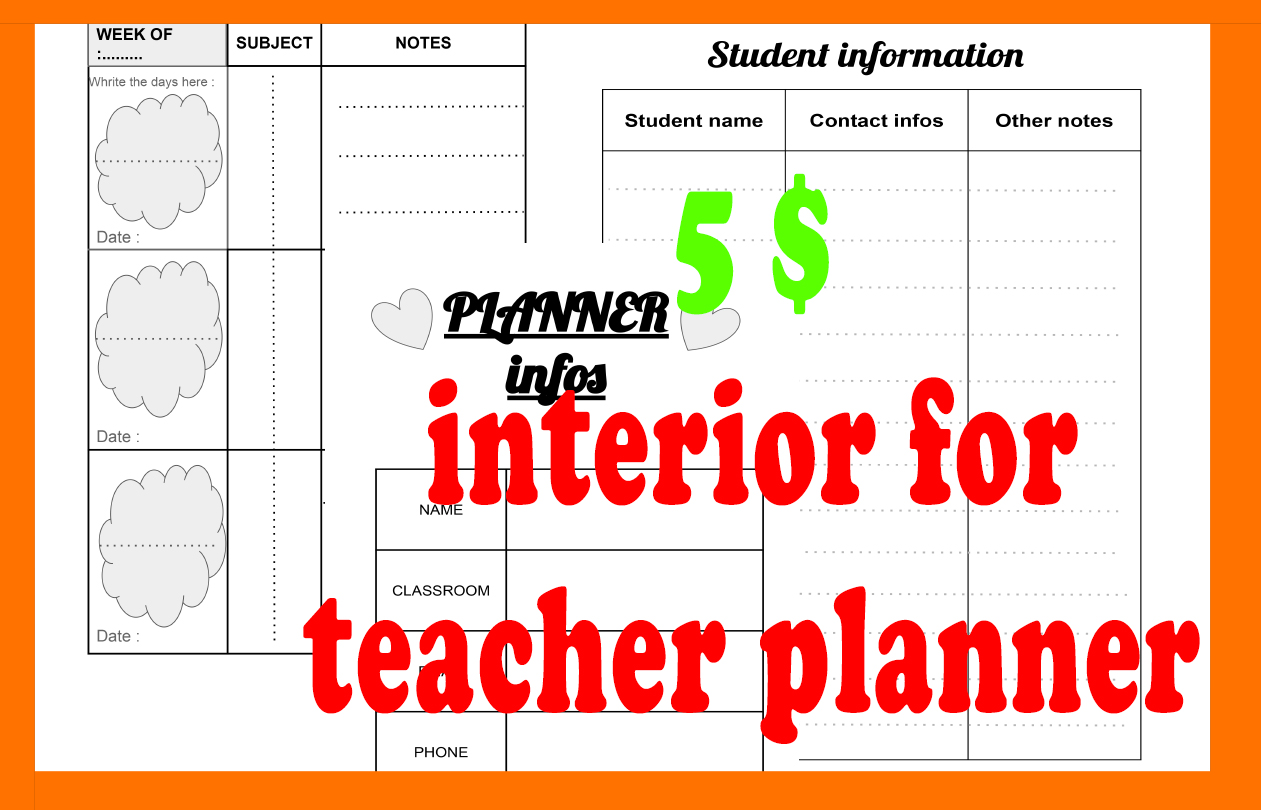 kdp,  kindle amazon interior for teacher planner