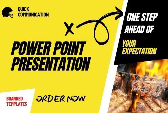 I will create impressive business powerpoint presentation