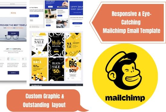 I will create mailchimp email template or html template