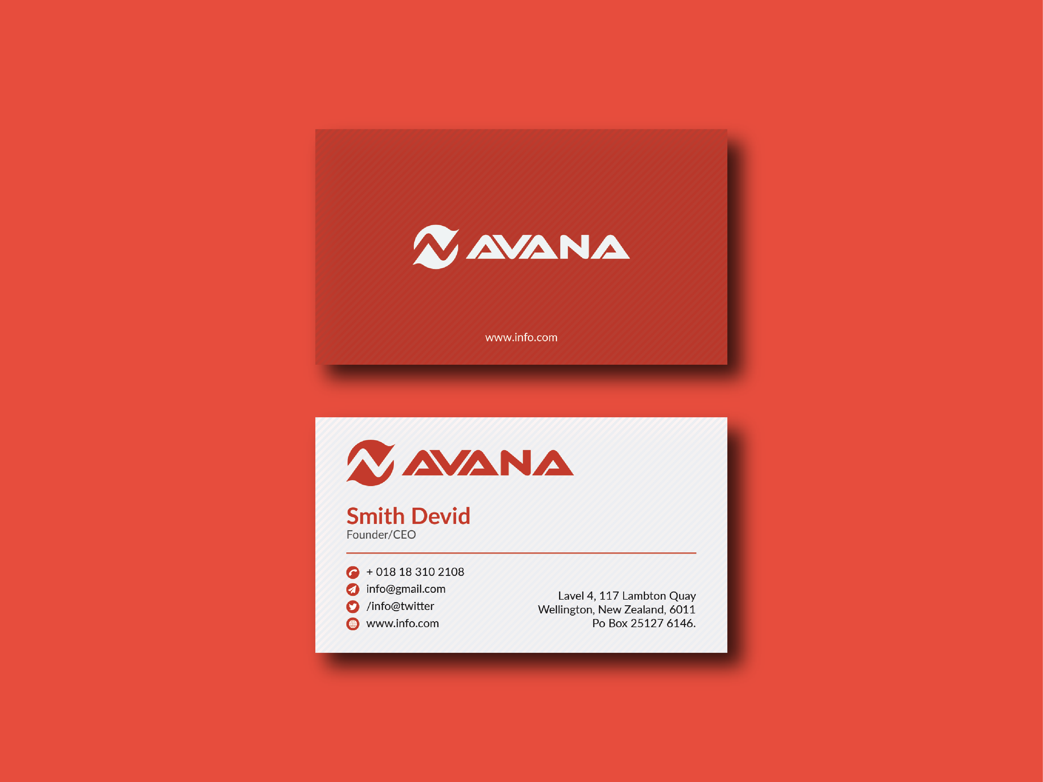 I will create a clean and modern business card within 24 Hour