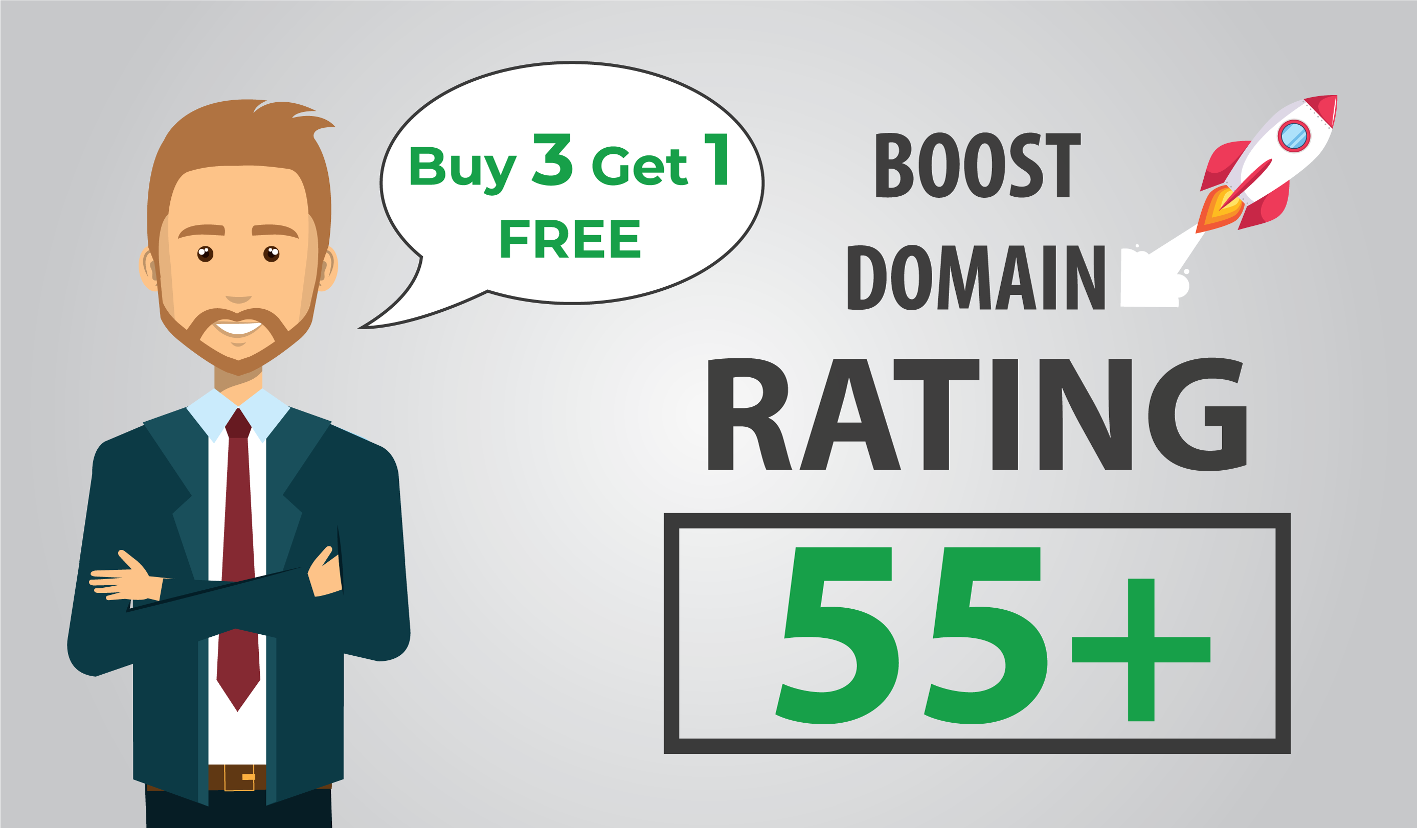 I will increase your domain rating up to DR 50 plus with seo dofollow backlinks