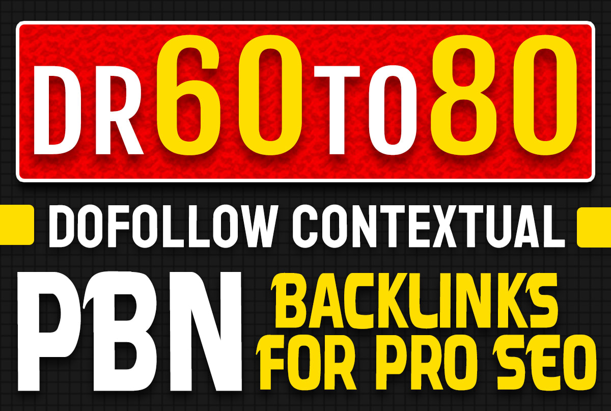 I will make 5 high domain rating pbn backlinks for pro off page seo