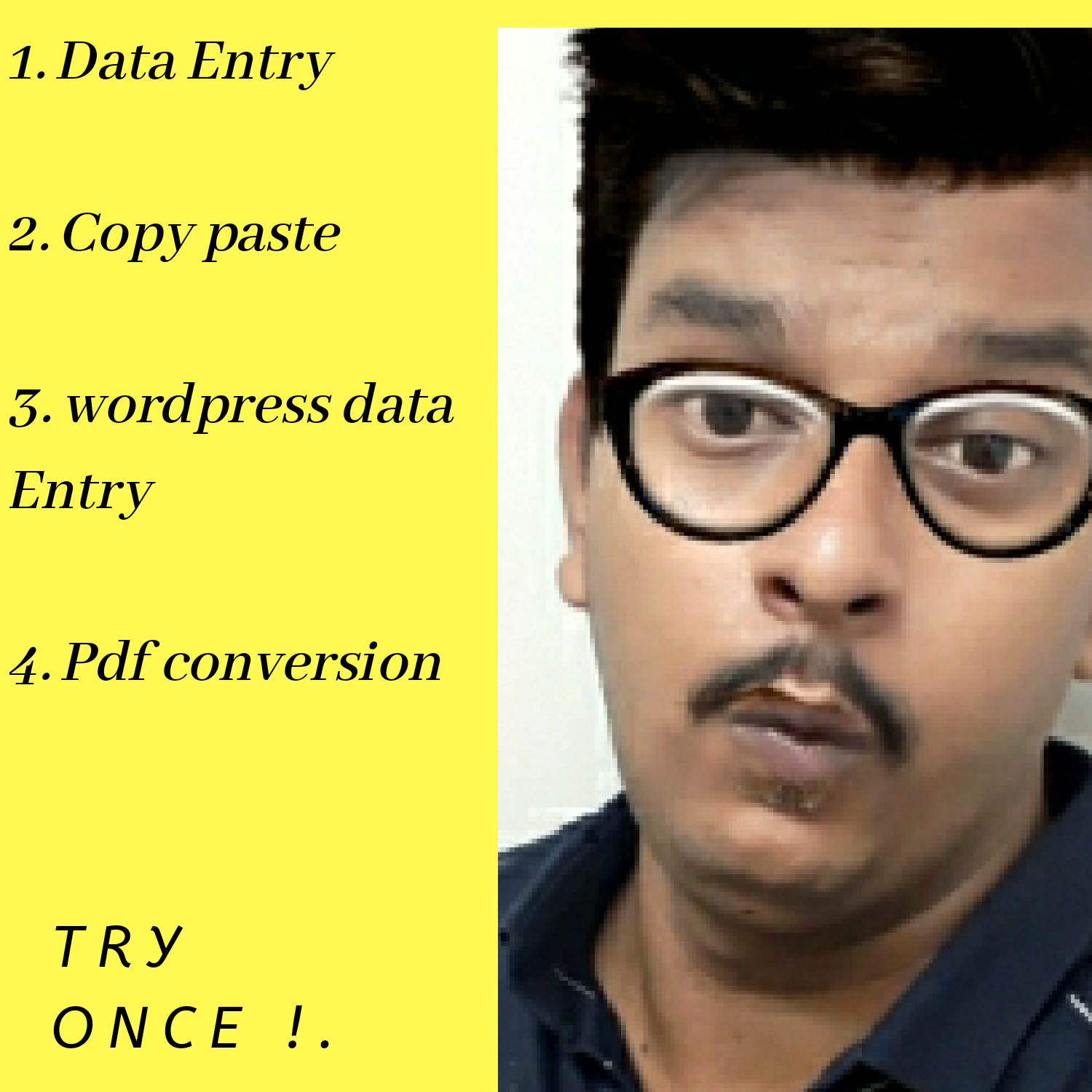 I will do data entry, wordpress data entry, and copy paste