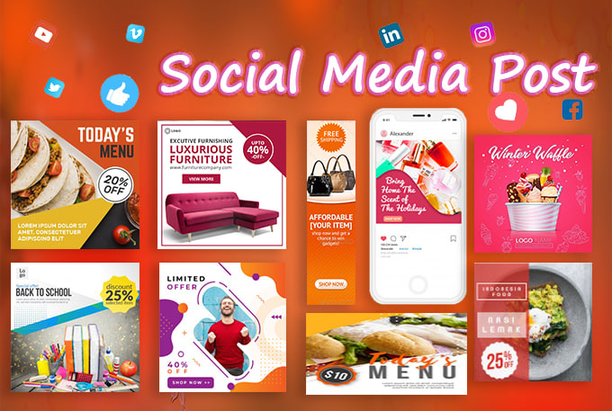 I will professional social media post design