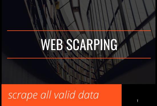 i will scrape data of any website