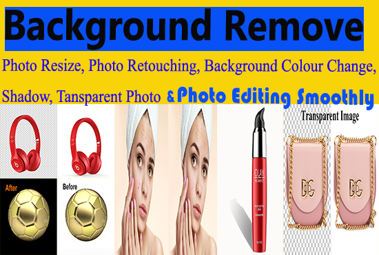 I will do Background Remove,  Photo Resize.