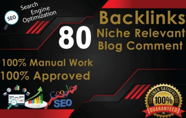I will provide 80 niche relevant blog comment high quality