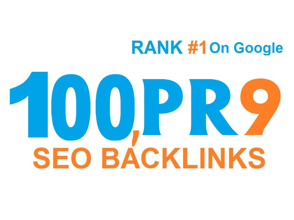 I will do 100 high pr SEO backlinks for rank 1 on google