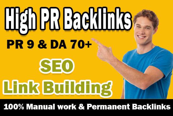 I will create high PR white hat seo backlinks, link building