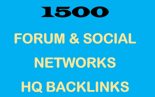Create 1500 Forum & Social Networks Backlinks