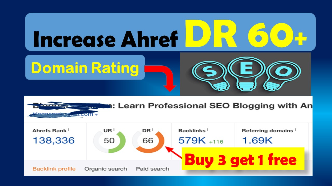 Increase domain rating DR 60 plus Guaranteed with high authority pbn backlinks