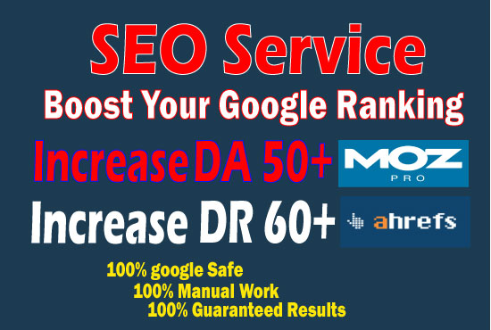 increase DR 55 plus and DA 50 plus with high authority PBN backlinks